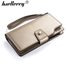 Baellerry Brand Fashion Women Long Wallets Large Capacity Lady Card Holder Luxury Women Metal Color Money Purse Gifts Coin Purse