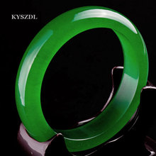KYSZDL NEW Natural green stone bracelet Icy Species Fashion jewelry Womens'bracelet for gift(China)