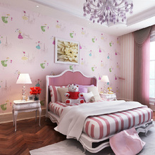 3d wall murals wallpaper Non-woven wallpaper children's room boy and girl blue pink warm seamless wallpaper factory outlets