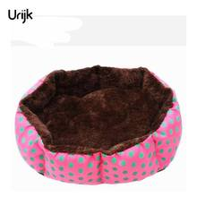 Urijk Pet Bed For Dogs Cat Soft Cotton Pet Dog Bed Puppy Cats House Plush Cozy Nest Mat Pad Dot Print Pet Accessories(China)