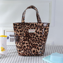 2017stuff pouch cotton shopping bag lady item organizer big capacity eco bag for student storage bags printing cute leopard(China)