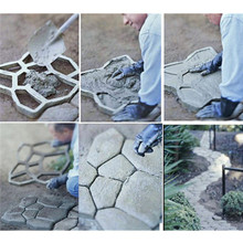 DIY Plastic Path Walk Maker Walkmaker Mold Manually Paving Cement concrete Brick Molds Resin Stone Road caminos hormigon Tools