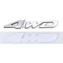 Hawksoar 3D 4WD Emblem Badge Drive Wheel Drive Auto Car Motor Sticker Decal Metal Chrome(China)