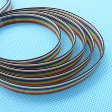 5 meters/lot Ribbon Cable 10 WAY Flat Cable Color Rainbow Ribbon Cable Wire Rainbow Cable 10P 1.27MM Pitch(China)