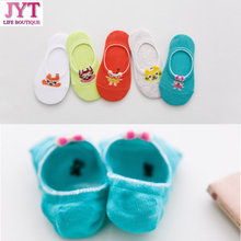 New Arrive Casual Cute Animal Pattern Socks Women Men Non-Slip Invisible Low Cut Cotton Ankle Sock Slippers(China)