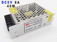 single output power supply dc 5V 8A 40W Led Driver for LED display AC110-220V Input to DC 5V UPS 10PCS