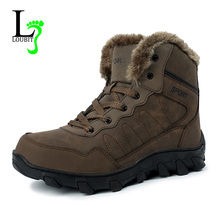 Men Boots 겨울 와 털 Warm 눈 Boots Men 겨울 Boots 일 Shoes Men 신발쏙 ~ 패션 고무 발목 Shoes 큰 size 39-48(China)