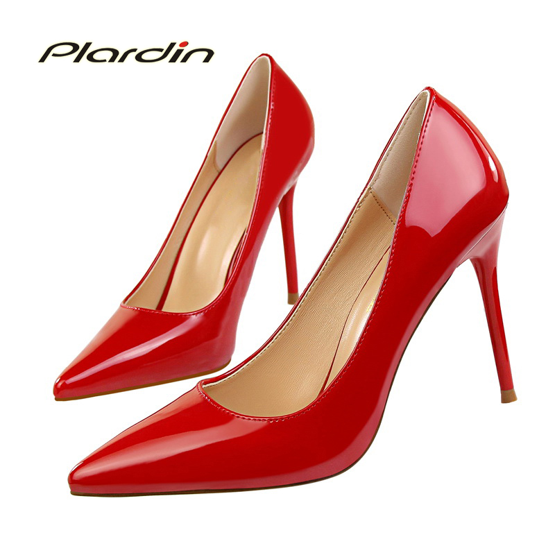 plardin 2018 Summer Shoes Woman Sweet Women Party Wedding  Shallow Mouth Cut Out Two Piece ladies shoes Thin High Heel Pumps<br>