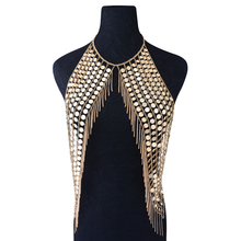 Bohemia Style Huge Body Chest Chain Scales Belly Chain for Women and Girls Necklace Body Chain Party/Club Dress up Jewelry