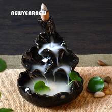 NEWYEARNEW 7 colors Celadon ceramic incense burner Home Furnishing ornaments fake something antique burner gift Free shipping