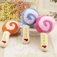 Lovely Dog Toys Puppy Pet Squeak Sound Toy For Small Dogs Pet Cat Toys Chew Lollies Play Toys 3 Colors Choice Pet Product(China)