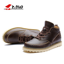Z. Suo men's boots,the quality of the leather fashion boots man, leisure fashion winter merchant men work boots ankle  ZS058