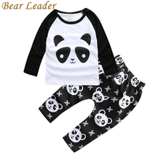 Bear Leader Panda Pattern Baby Clothing Sets Autumn Long Sleeve T-shirts+Pants For Infant Girls Lovely Cartoon Clothes Suits Kid(China)