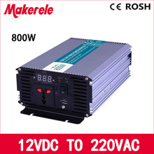 MKP800-122 pure sine wave 800w power inverter 12v to 220v voltage converter,solar inverter LED Display,Full power(China)