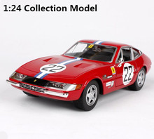1:24 Advanced alloy car toy,high imitation 356 GTB4 22 Racing model,2 open the door, collection car model, free shipping