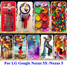 Soft TPU Hard PC Phone Cases For LG Google Nexus 5X Nexus5X Nexus 5 G3S G3 Mini G3 Beat S D724 X Cam K580 Covers Paintbox Shell