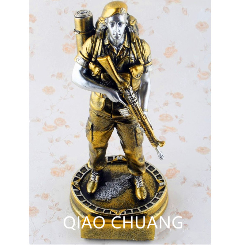 22CM Fashion Resin Crafts Personality Mini Service Special Forces Desk Decoration Creative Statue Trophy Home Ornaments S426<br>