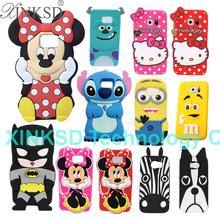 3D Super Hero Soft Silicone Case For Samsung Galaxy S7 / S7 Edge Batman Hello Kitty Sulley Minion Minnie Stitch Cell Phone Cover