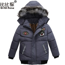 Buy Bibihou Boy Winter Coat 2017 New Snow Wear Kids Thick Warm Jackets Overcoat Children Long Sleeve Hooded Jackets Boys for $14.51 in AliExpress store