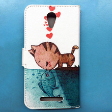 for Micromax AQ 5001 Wallet PU Leather Flip Case For Micromax Canvas Juice 2 AQ5001 phone case bags +Lanyard Gift +Tracking