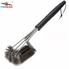 Rugged Grill Cleaning Brush BBQ tool Grill Brush  Stainless Steel Brushes Provides Effortless Cleaning BBQ Accessories