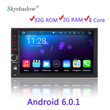 Eight Core 2 DIN HD Media Video Android 6.0.1 Car DVD Player For Universal Radio 2G RAM 32G ROM GPS Navigation WIFI
