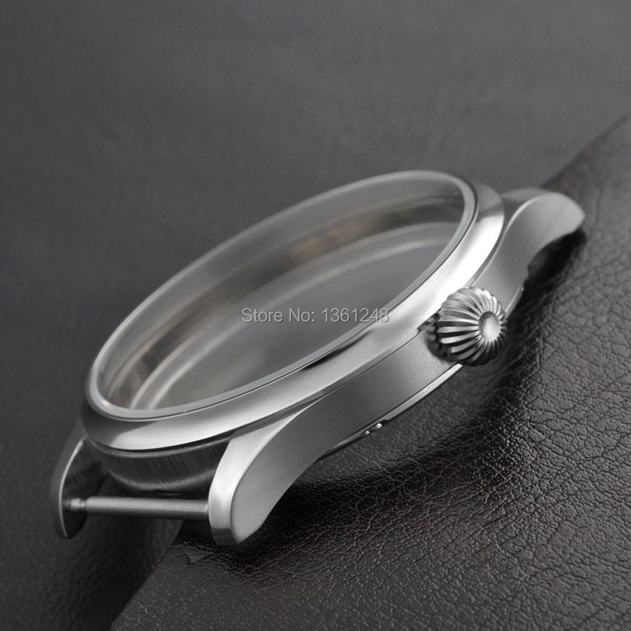 44mm Watch Classic CASE SS fit eta 6498 6497 eat movement 3<br>