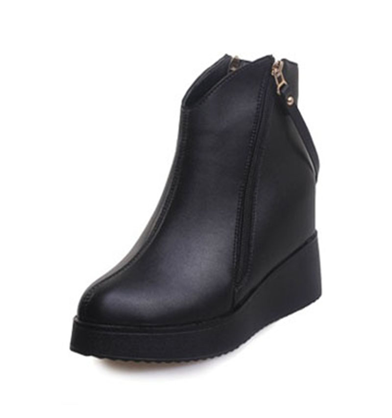 2017 New Shoes Woman Zipper Boots PU  Within The High State Boots  womens Boots Martin Boots .DFGD-1018<br><br>Aliexpress