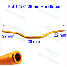 "Buy Gold 1 1/8"" 28mm Aluminum Alloy Fat Bar Handlebar Hand Bar Thumpstar SSR Pit Dirt Bike Motocross ATV Quad Motorcycle for $24.90 in AliExpress store"