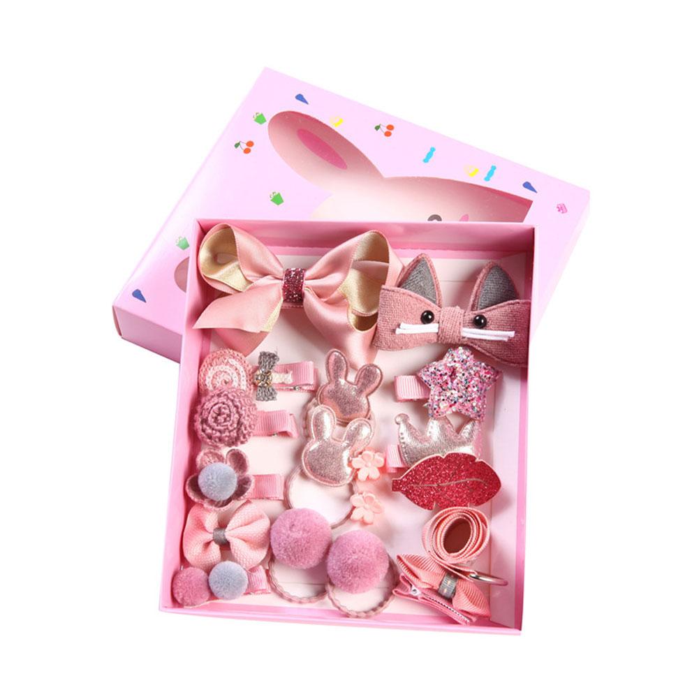 20Pcs//Pack Wholesale Cartoon Baby Kids Girls Mixed HairPin Hair Clips Hair Decor