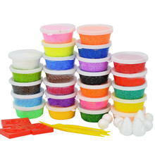 24 Colors*15g Modeling Clay Playdough Children's Educational Play Toys Handgum Intelligent Plasticine Suit DIY Magic Foam Doh(China)