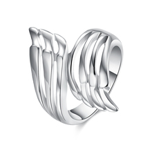 Promotions! Wholesale Plated Silver Ring, Plated Silver Fashion Jewelry, Classic Angel Wings Ring for Women