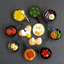 Fridge Magnet Egg frying pan magnetic board Creative food refrigerator Magnetic absorption stickers Home Decorations calamite