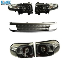 King Way- Halo Projctor Headlight Tail Light + Grille For 2007-2015 Toyota FJ Cruiser SET(China)