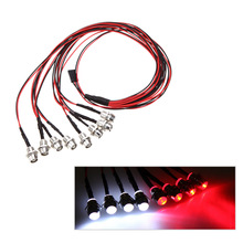 RC Car Upgrade Parts GoolRC 8 LED 5mm White/Red Color RC Car LED Light Set for REVO Slash Jato T-MAXX TRAXXAS HSP HPI RC Cars(China)