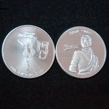 1oz .999 silver plated Michael Jackson Coin US Michael Jackson coin 5pcs/lot free shipping