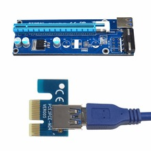 PCIe PCI-E PCI Express Riser Card 1x to 16x USB 3.0 Data Cable 30/60CM SATA to 4Pin IDE Molex Power Supply for BTC Miner Machine