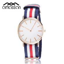 Keeptime New Unisex Watch Men Women Wristwatch Nylon Fabric Canvas Casual Watch Super Thin gift Watch Top Brand Military Clock