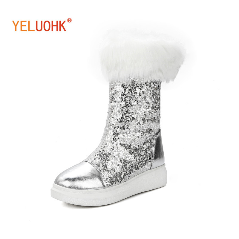34-43 Snow Boots Women Plush Warm Women Winter Shoes Platform Winter Women Boots Female Winter Boots Big Size<br>