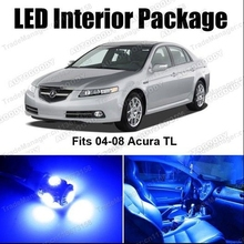 Free Shipping 7Pcs/Lot car-styling LED Lights Interior Package Deal for Acura TL 04-08
