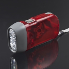 Worldwide 1pcsarrival 3 LED Dynamo Wind up emergency Flashlight NR Torch Light Camping(China)