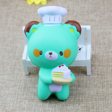 12CM Kawaii Cake Little Bear Mouse Squishy Toys Cell Phone Straps Kids Toys Gift Accessories(China)