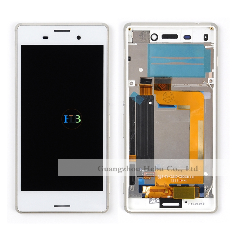 Brand New Wholesale 100pcs LCD Screen For Sony Xperia M4 Aqua LCD Display Touch Screen Digitizer Assembly With Frame Free DHL<br>
