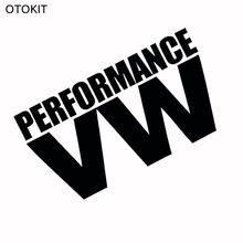 OTOKIT Reflective White & Black PERFORMANCE VW Glue Sticker for Volkswagen VW Model Car Windows Rear Windshield Door Decal Badge(China)