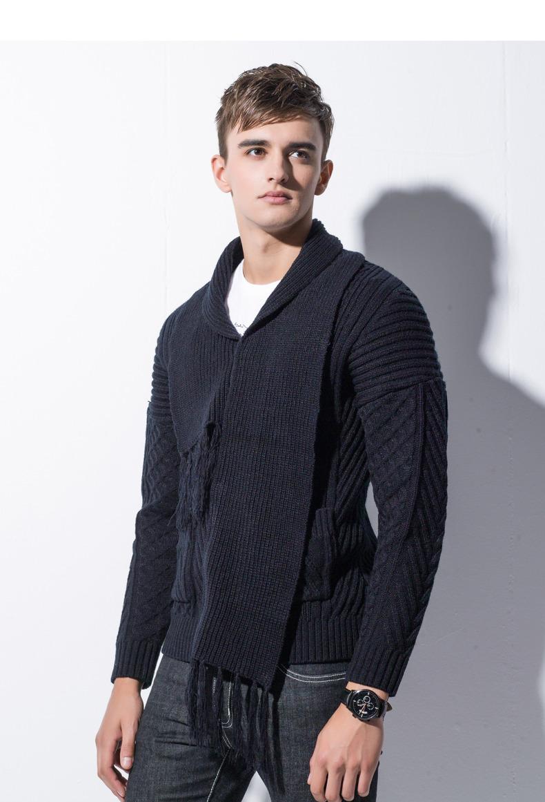 Winter Men Cardigan Coat Thicken Loose Fit Warm Turtleneck Sweater Men Autumn Knited Male Sweatercoat Black Brand Muls M-4XL-03