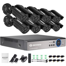 DEFEWAY 8CH 1080N HDMI DVR 1200TVL 720P HD Outdoor Surveillance Security Camera System 8 Channel CCTV DVR Kit AHD Camera Set(China)