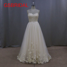 High Quality New Design Bridal Gown Princess Lace Custom Size A Line Off the Shoulder Wedding Dresses Vestidos De Noiva Tulle(China)
