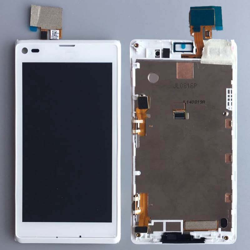 White Touch LCD Display Assembly+Frame Sony Xperia L S36h C2104 C2105