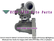 TA3123 2674A147 466674-0007 466674 466674-5003S 2674A076 2674A301 Turbo Turbocharger For Perkins JCB Off Highway 92 1004.2T 98kw