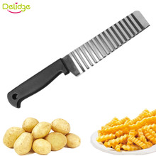 Delidge 1 pc Wave Potato Cutter Stainless Steel Cucumber Carrot Potato Vegetable Waves Cutter DIY Creative Kitchenware
